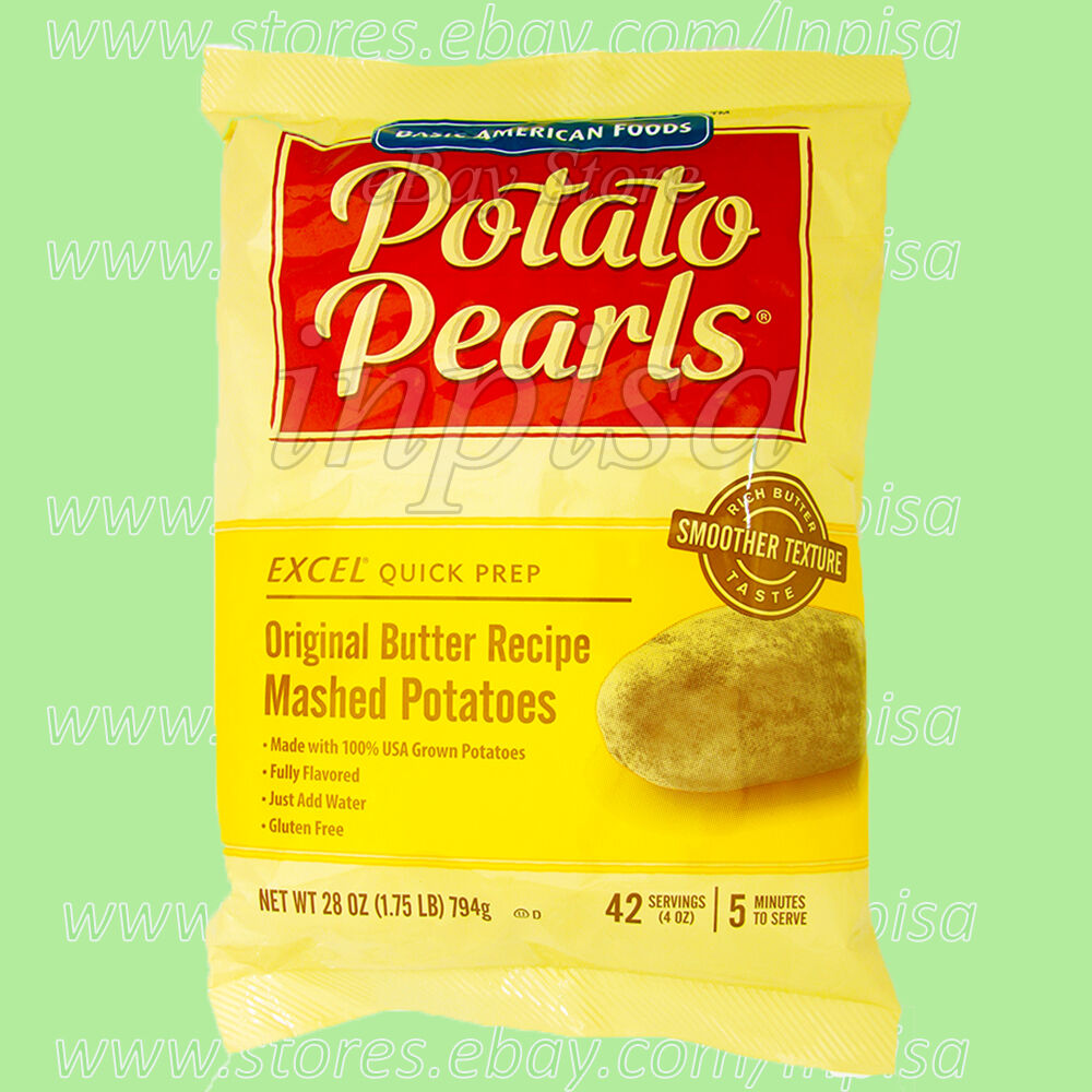 как выглядит EXCEL POTATO PEARLS 12 Bags x 28oz Original Butter Recipe Mashed Potatoes фото