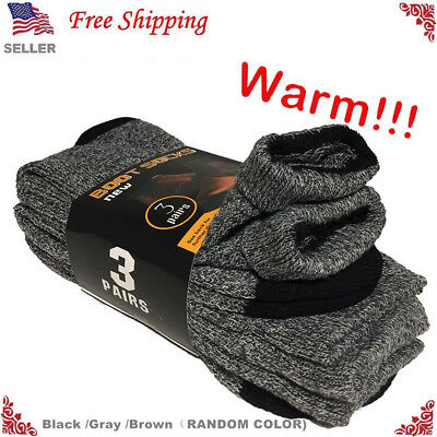 3 Pairs Mens Winter Heavy Duty Warm Thermal Crew Work Boots Socks Size 9-13  Crew Thermal Crew Socks