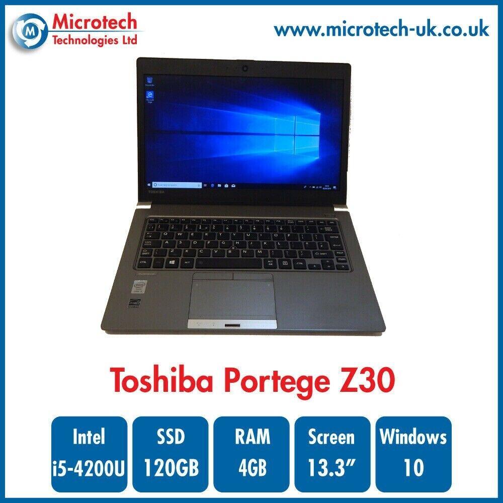 Toshiba Portege Z30 Laptop i5 4200U 4th Gen 4GB RAM 120GB SSD Windows 10  Pro #1   in Blackpool, Lancashire   Gumtree