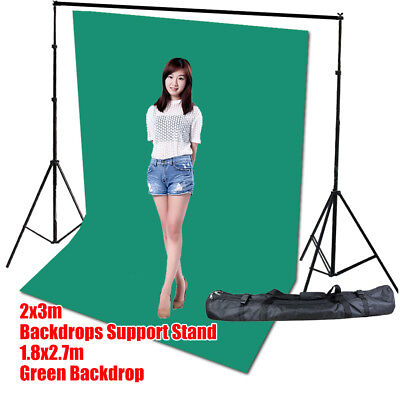 Photo Screen Chromakey Green Muslin Backdrop Studio Background Support Stand Kit Chroma Key Green Muslin