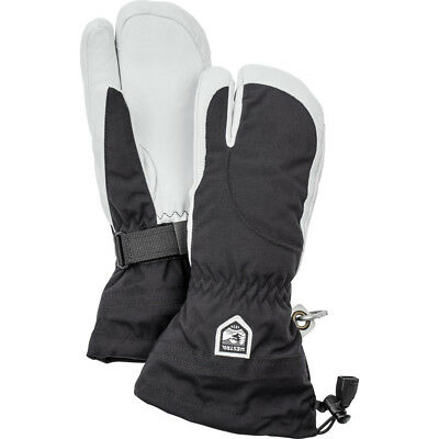 Hestra Army Leather Heli Ladies 3-Finger Ski Gloves, Black Hestra Heli 3 Finger