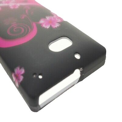 Hard Cover Protector Case for Nokia Lumia Icon 929 - Pink Purple Love - Pink Love Hard Protector