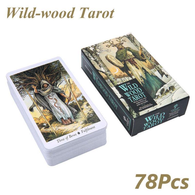 78Pcs Cards Wild Wood Tarot Game Beginner Deck Vintage Fortune Telling