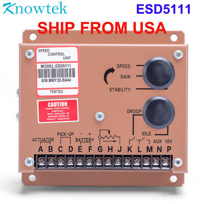 Esd5111 Engine Speed Control Governor Unit Controller For Diesel Generator