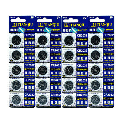 20x CR2032 Lithium Battery 3V Button Cell for Calculator Scale Remote Watch Toy 2032 Lithium Cell Button