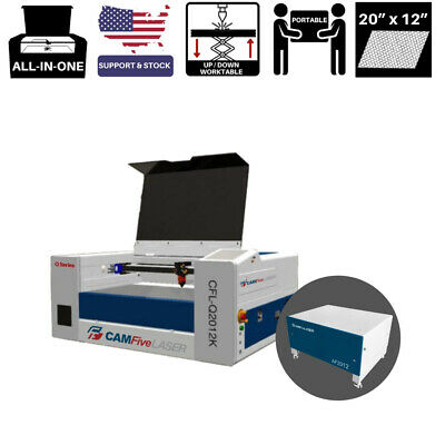 20 X 12 Inches 45w Camfive Laser Q2012k Cutter Engraver For Hobby And Home Use
