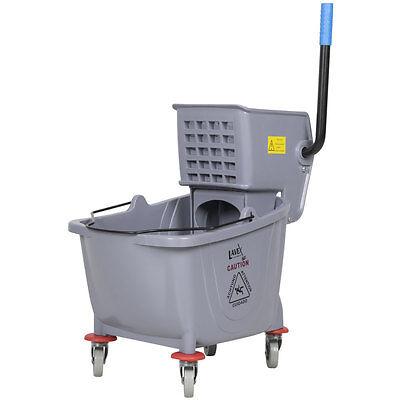 Commercial Wet Mop Bucket & Wringer Combo 36 Quart - Gray - Janitorial