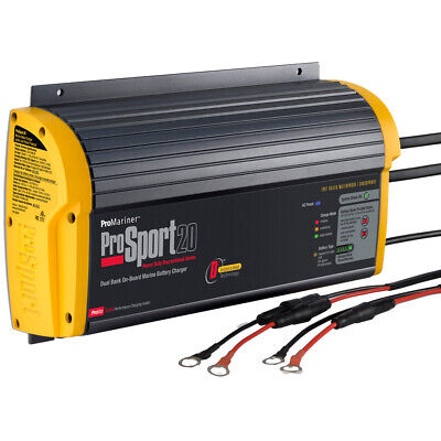 ProSport 20 Gen 3 On-Board Marine Boat Battery Charger - 20 Amp - 2 Bank