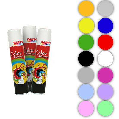 Haar Färbe Spray 100 ml, Color Haarspray für Karneval Halloween und Co.