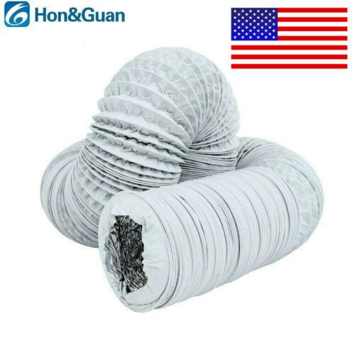 4-6in 5m Aluminium Foil PVC Flexible Exhaust Duct Fan Vent H