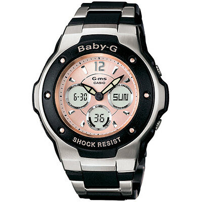 Casio Baby-G Womens Wrist Watch Black Grey Alarm Chronograph Shock Resist