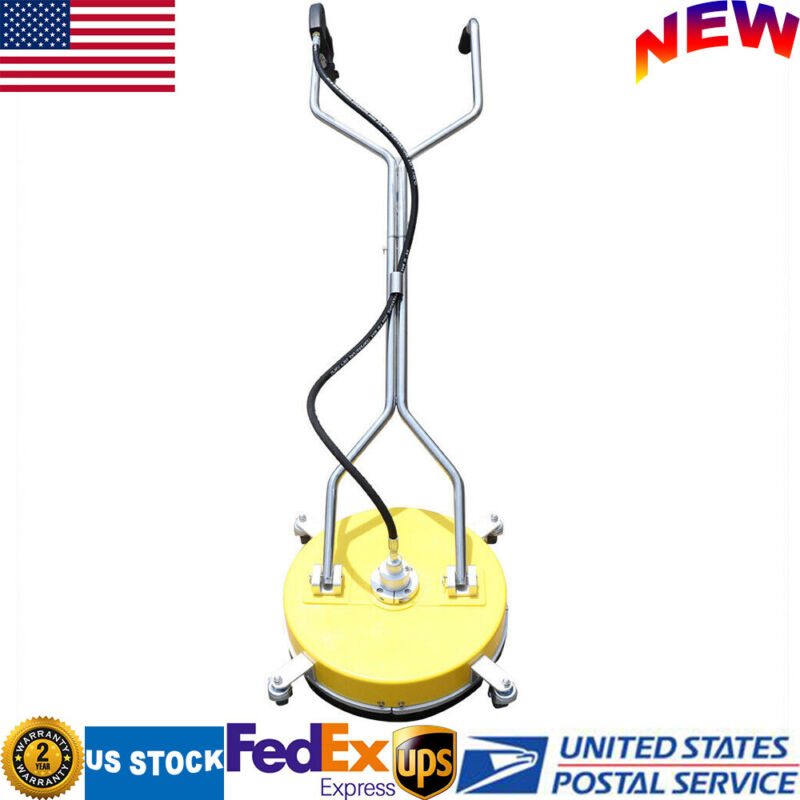 """18"""" Flat Surface Cleaner Washer Stainless Steel High Pressure Cleaner 4000PSI US"""