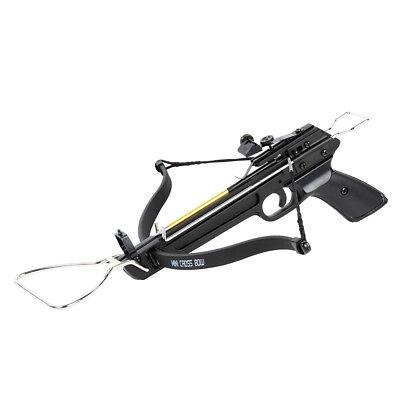 80 lb Pistol Hunting Archery Crossbow bow + 15 Bolts / Arrows +2 Strings 150 lbs