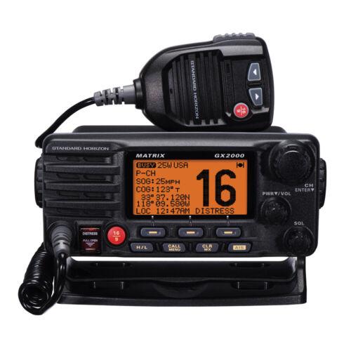 Standard Horizon Matrix GX2000 VHF Black Marine Boat Radio with AIS/GPS 30W PA