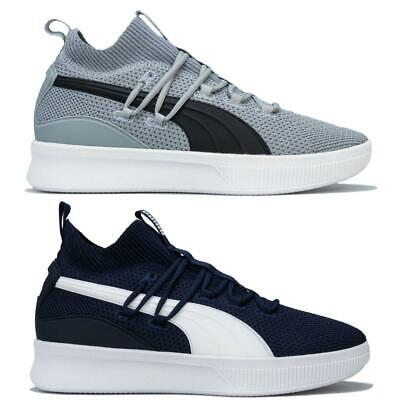Mens Puma Clyde Court Basketball Lace up Breathable Cushioned Sock Like Trainers
