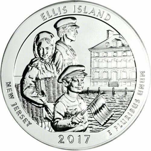 2017 Ellis Island America The Beautiful 5 oz. Silver Coin in Capsule.