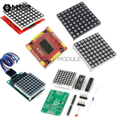 3mm5mm Max7219 8x8 Dot Matrix Display Redfull Color Rgb Led Diy Kit Welded