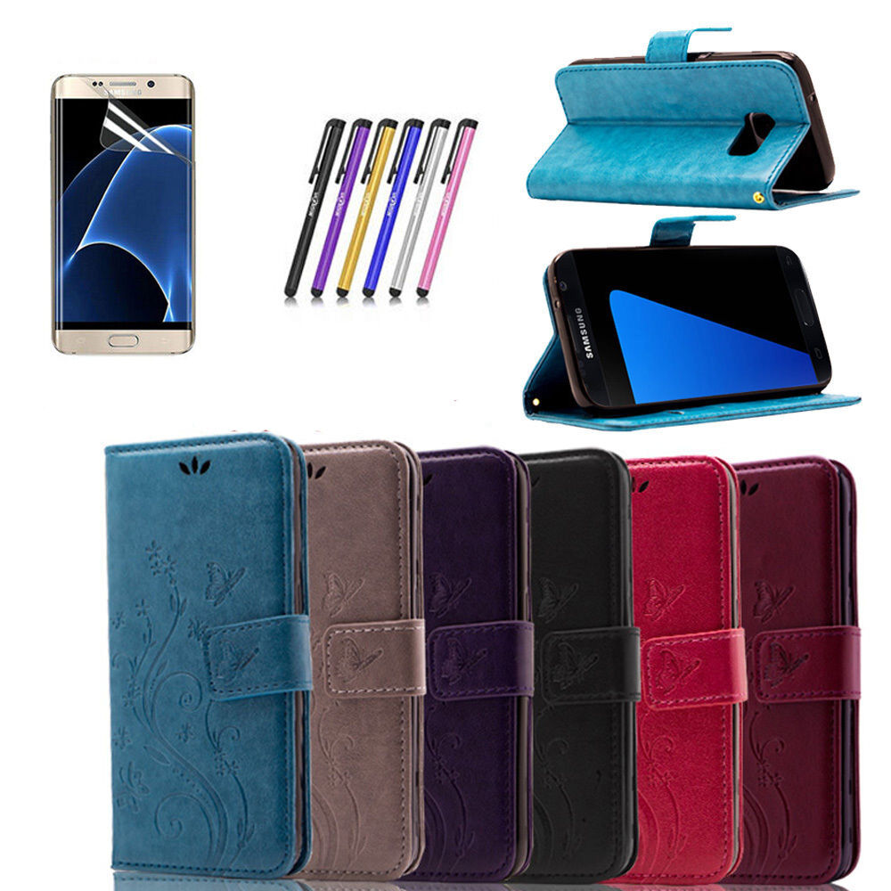 For Samsung Galaxy S7 / S7 Edge Wallet Case Synthetic Leathe