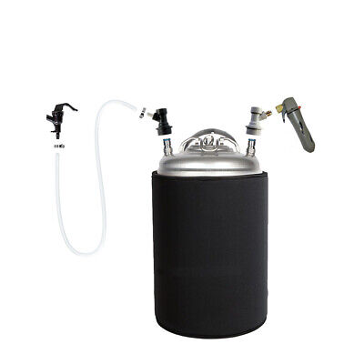 2.5 Gallon Ball Lock Keg And Co2 Charger Portable Party Kit Homebrew Beer Coffee