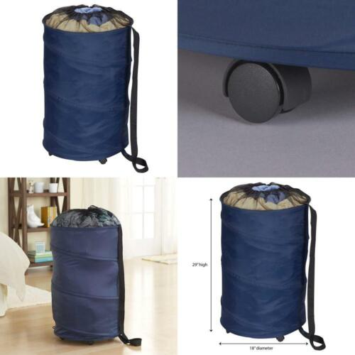 Household Essentials 2030 Pop-Up Laundry Hamper on Wheels wi