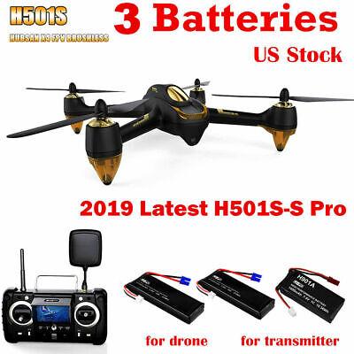 Hubsan H501S S Pro FPV Drone Quadcopter 1080P Brushless 5.8G Video RTF+3Battery