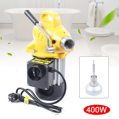 20-100mm Drain Cleaner 400 W Sectional Sewer Snake Drain Auger Cleaning Machine
