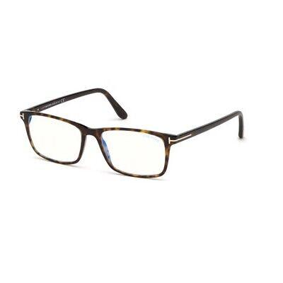 Optische Brille Tom Ford FT5584-B 052 56-16-145 Mann Dark Havana Gläser Blau Pro