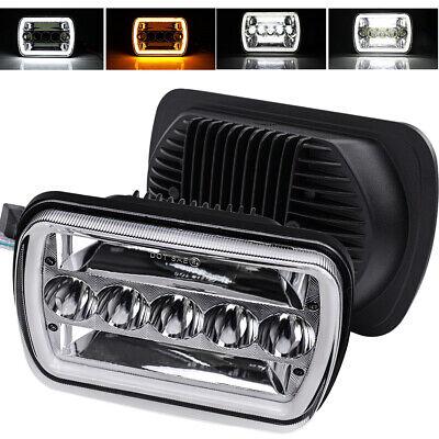 DOT 120W 7x6'' 5x7 LED Headlight DRL Projector Hi/Lo Beam Halo Amber White