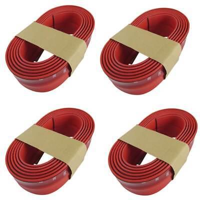 Frontspoiler + Seitenschweller + Heckspoiler Lippe Gummi Rot für viele Fahrzeuge