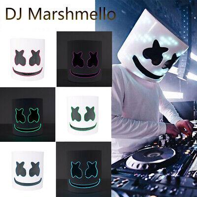 DJ-MarshMello LED Full Mask Helmet Costume Rave Cosplay Party Bar Music Props