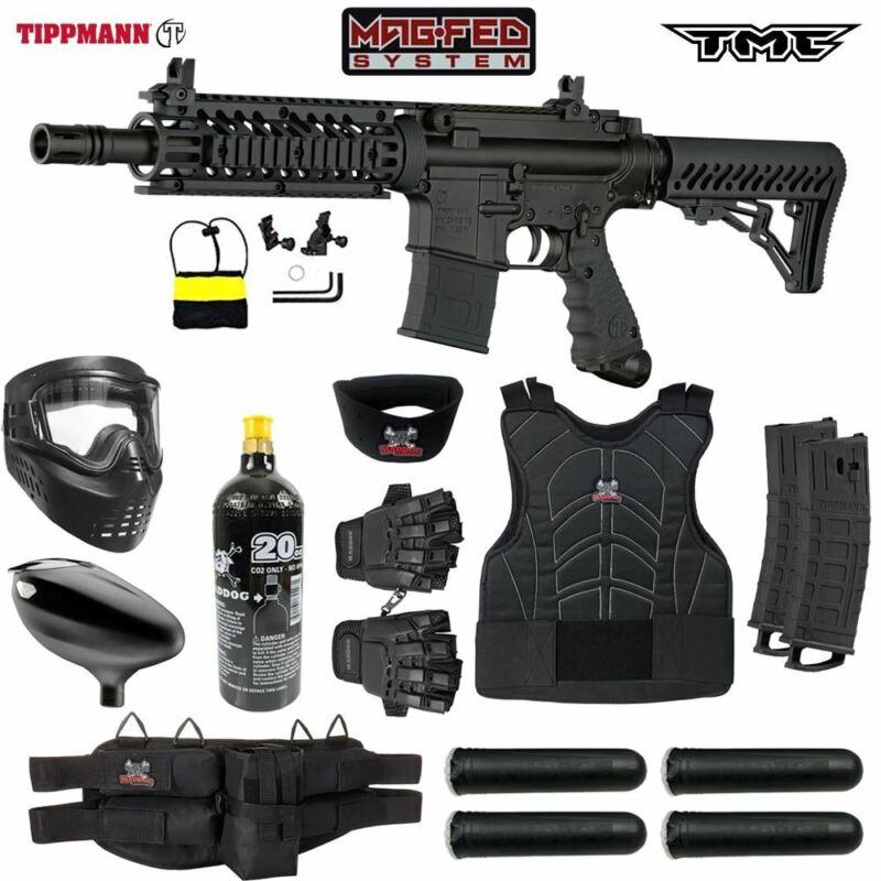 Maddog Tippmann TMC MAGFED Protective CO2 Paintball Gun Starter Package -Black