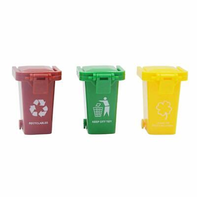 Blomiky 3 Trash Can Toy,Garbage Truck's Trash Cans,Mini Curbside Vehicle Garbage (Toy Garbage Cans)