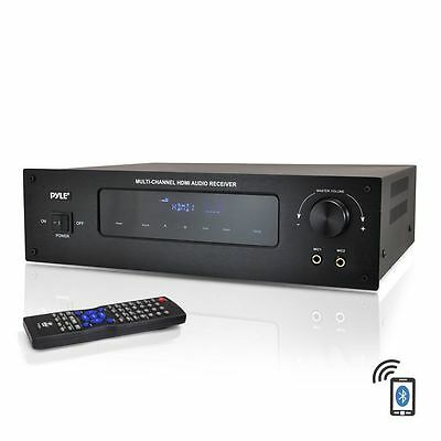 Pyle PT592A Bluetooth 5.1 Channel 300W HDMI Home Stereo Receiver Amplifier