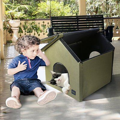Mindkoo Outdoor Cat House Winter Heated House Shelter Pet Cave Waterproof Warmer