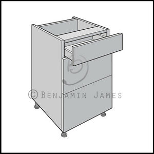Kitchen carcass unit drawer type f cabinet standard for Black kitchen carcasses