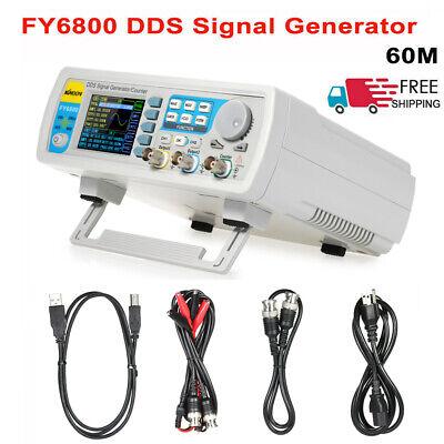 Fy6800-60m 60mhz Dds Dual-ch Function Signalarbitrary Waveform Generator O9j3