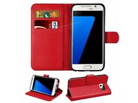 New Luxury Magnetic PU Leather Flip Book Case Wallet Cover For Samsung Galaxy S7 w/ Screen Protector
