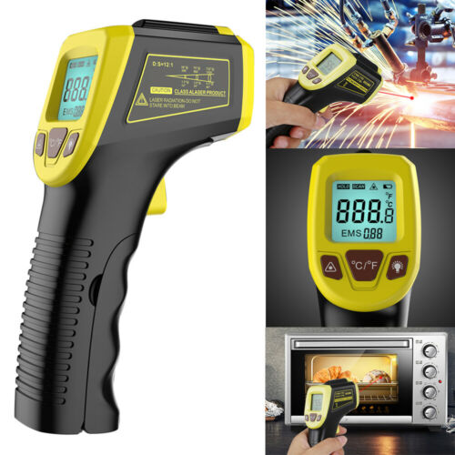 Digital Thermometer Infrared Temperature Gun Non-Contact Laser -58℉ To 1112℉ USA