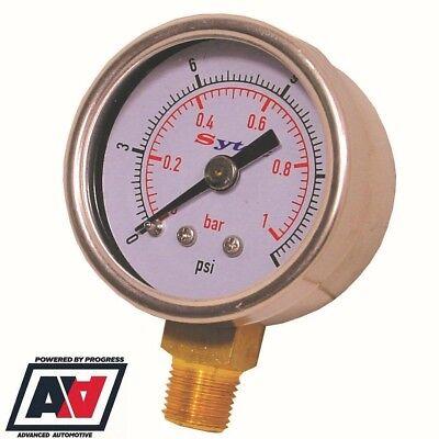 Sytec Fuel Pressure Gauge For Malpassi Filter King Regulators 0-15 PSI ADV