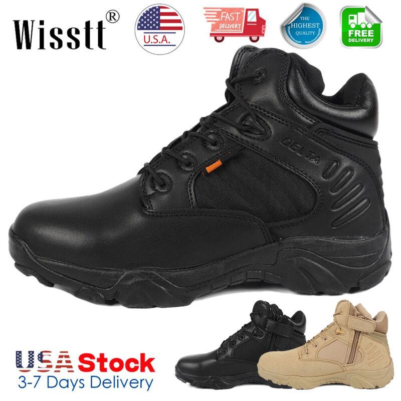 Mens Military Tactical Survival Ankle Boots Desert Combat Ar