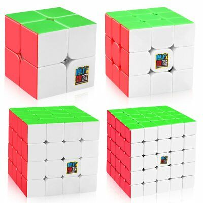 Moyu Speed Cube Bundle 2x2 3x3 4x4 5x5 Mofangjiaoshi Stickerless Magic Cube Set