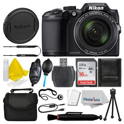 Nikon COOLPIX B500 16MP Digital Camera (Black) + 16GB Deluxe Accessory Bundle!