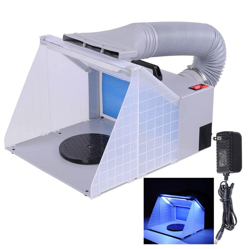 Portable Airbrush Spray Booth w/LED Lighting 5.6
