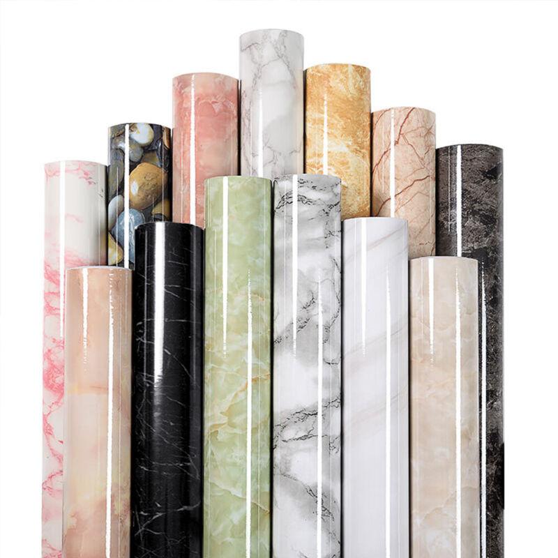 Marble Paper Self Adhesive Film Counter Stick Waterproof Peel & Stick Countertop