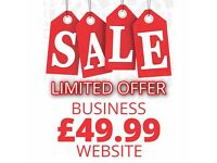 Just £49! - PROFESSIONALLY DESIGNED WEBSITE - FREE UK DOMAIN NAME - 1 YEAR HOSTING - RESPONSIVE -SEO