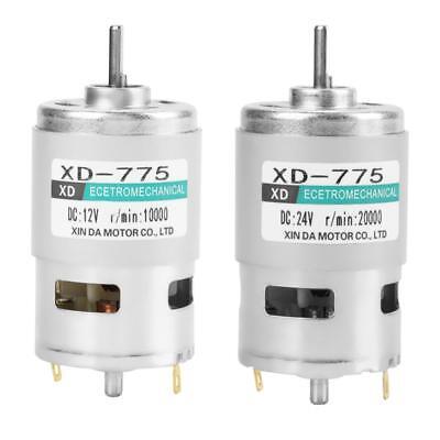 Xd-775 12v24v High Speed Double Ball Bearing Brush Dc Motor
