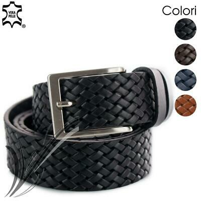Cintura intrecciata uomo pelle cinta artigianale elegante casual da per ragazzo