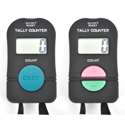 2 PCS Digital Tally Counter Electronic Hand Held Clicker Sports Manual Clicker