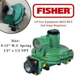 NEW Emerson-Fisher LP-Gas Equipment R622-BCF 2nd Stage Regulator, 9-13 W.C Spring, 1/2 x 1/2 NPT Condtion: New