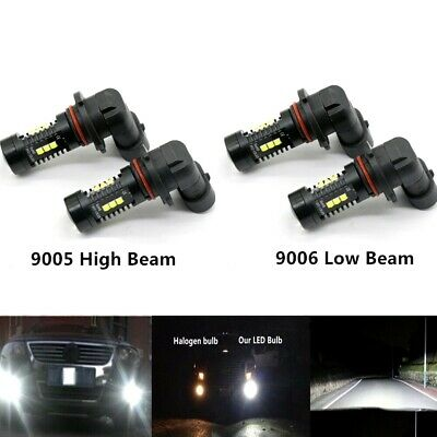 9005+9006 Kit High+Low Beam 6000K Combo CREE LED Headlights Bulbs 8000LM 55W